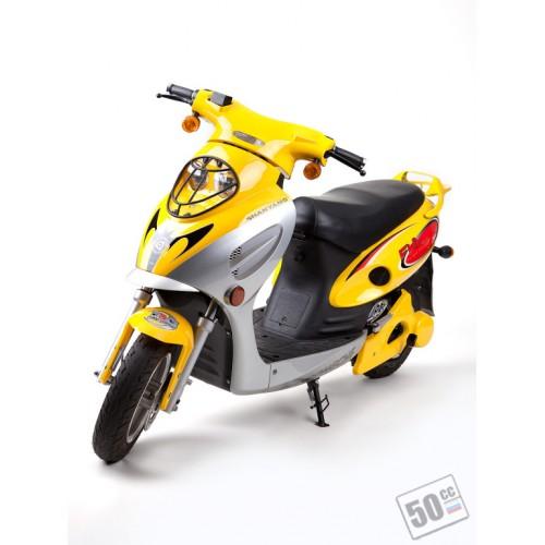 Скутер Evolution 800W компании Shanyang. Бесшумный, экологически чистый, с приятным ароматом электричества.